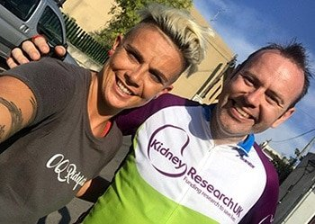Ian Logan and Ottilie Quince cycling challenge