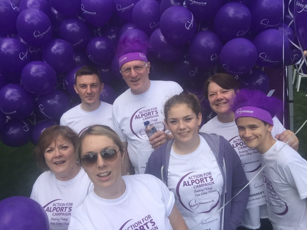 Lauren Payne and family, fundraising for Alports