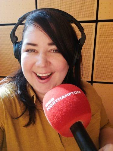 Sarah Harwood talking on BBC Radio 2.