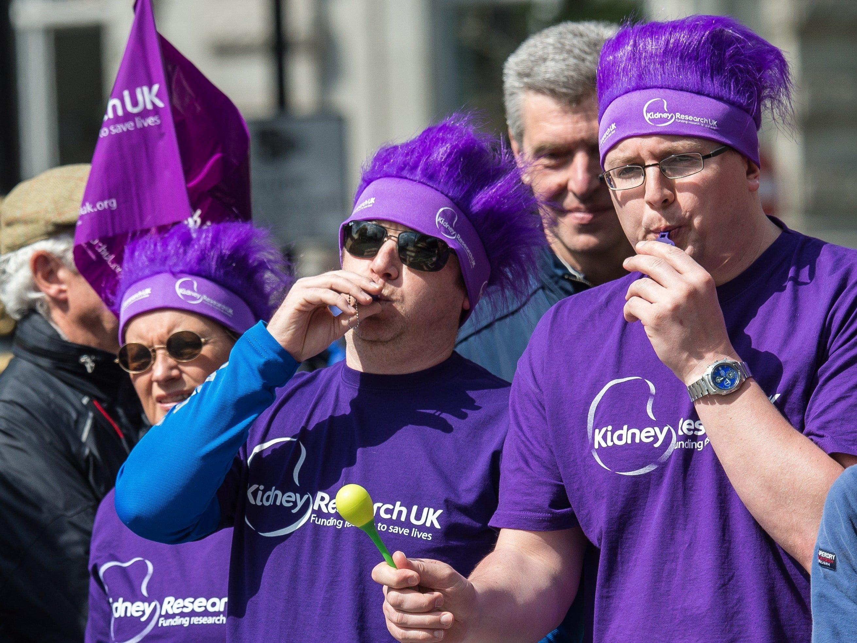 Alan Mostowyj volunteering at London Marathon