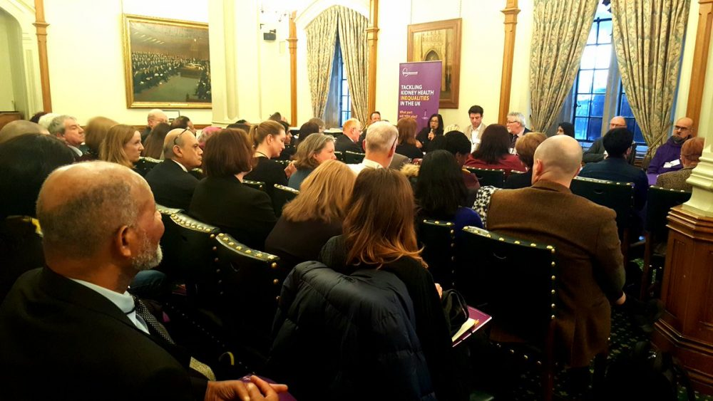 Health inqualities report launch at the House of Commons.