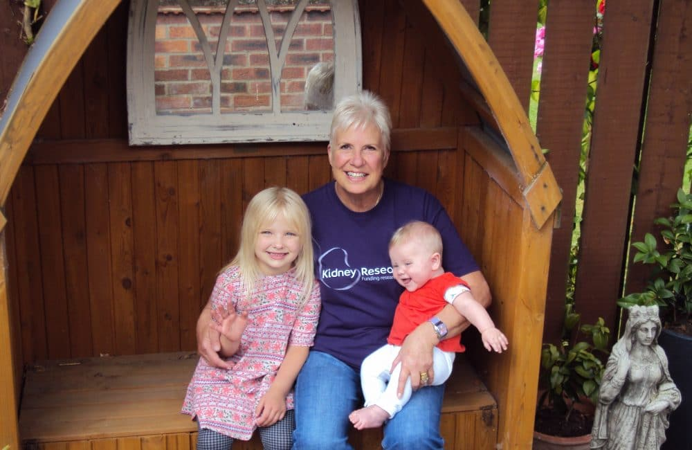 Deborah Bakewell with grandchildren