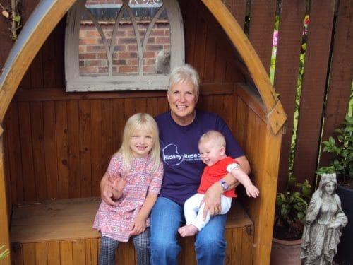 Deborah Bakewell with grandchildren