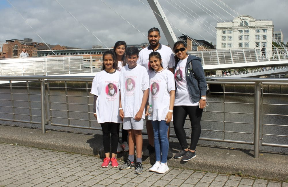 Team Hope4Anaya at Newcastle Bridges Walk