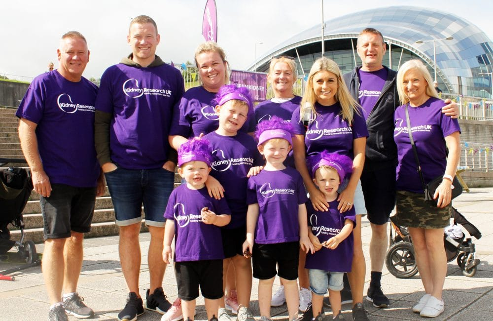 Family at Newcastle Bridges Walk