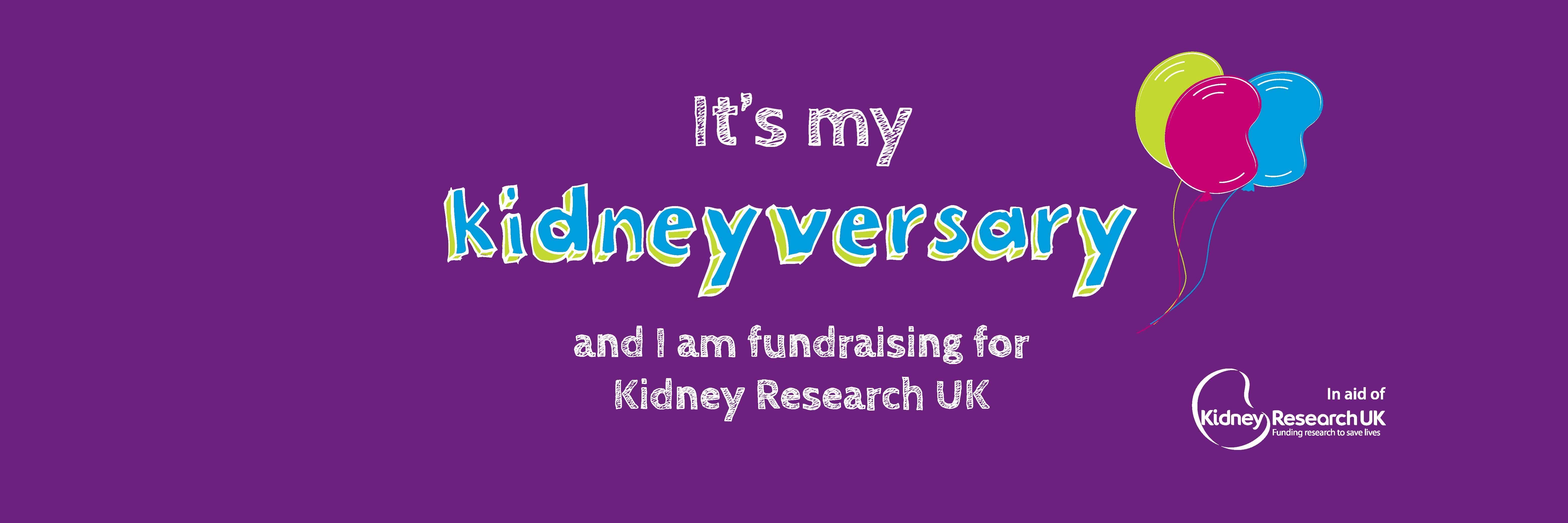 Kidneyversary twitter cover