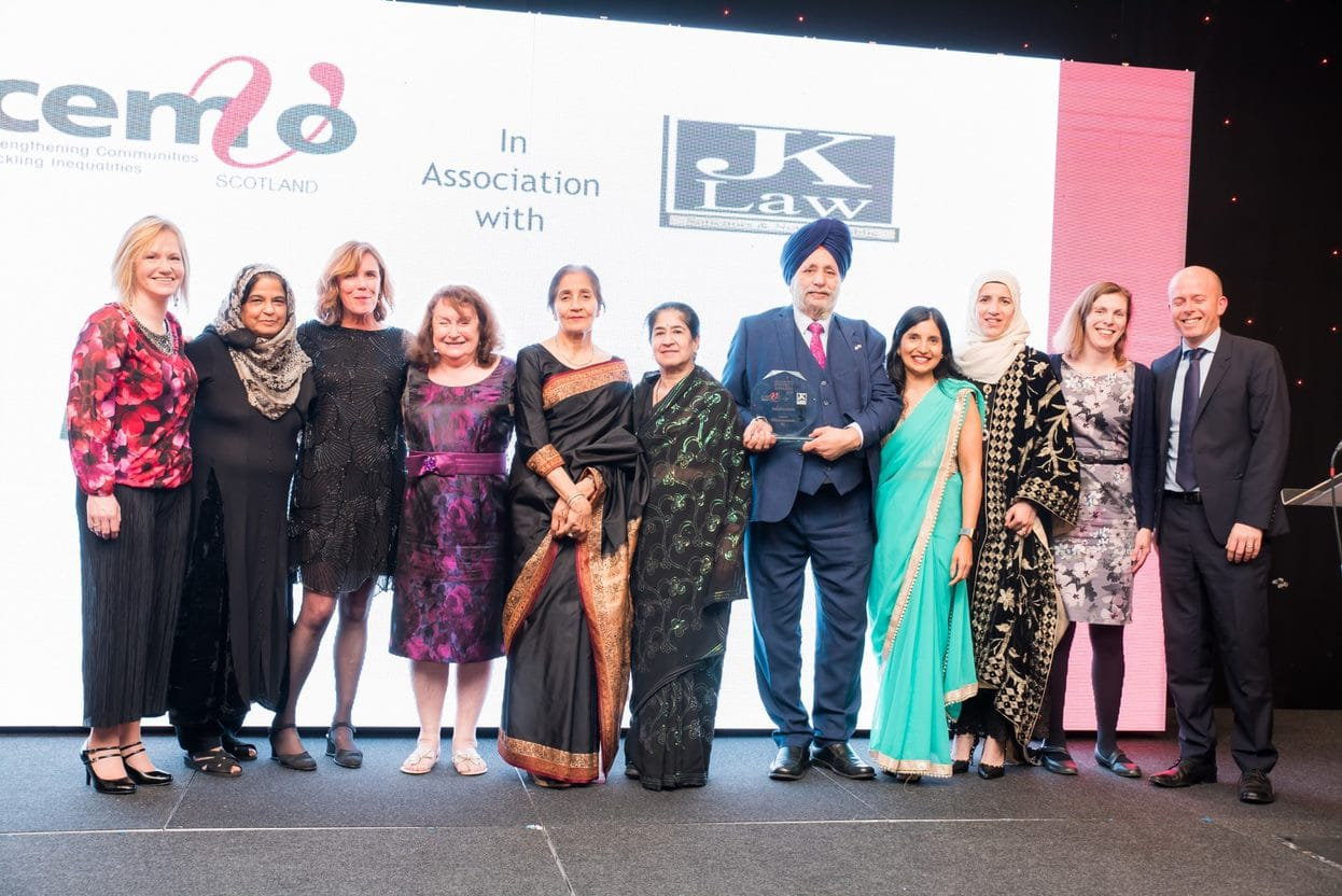 Bushra Riaz, third from left, and the team.