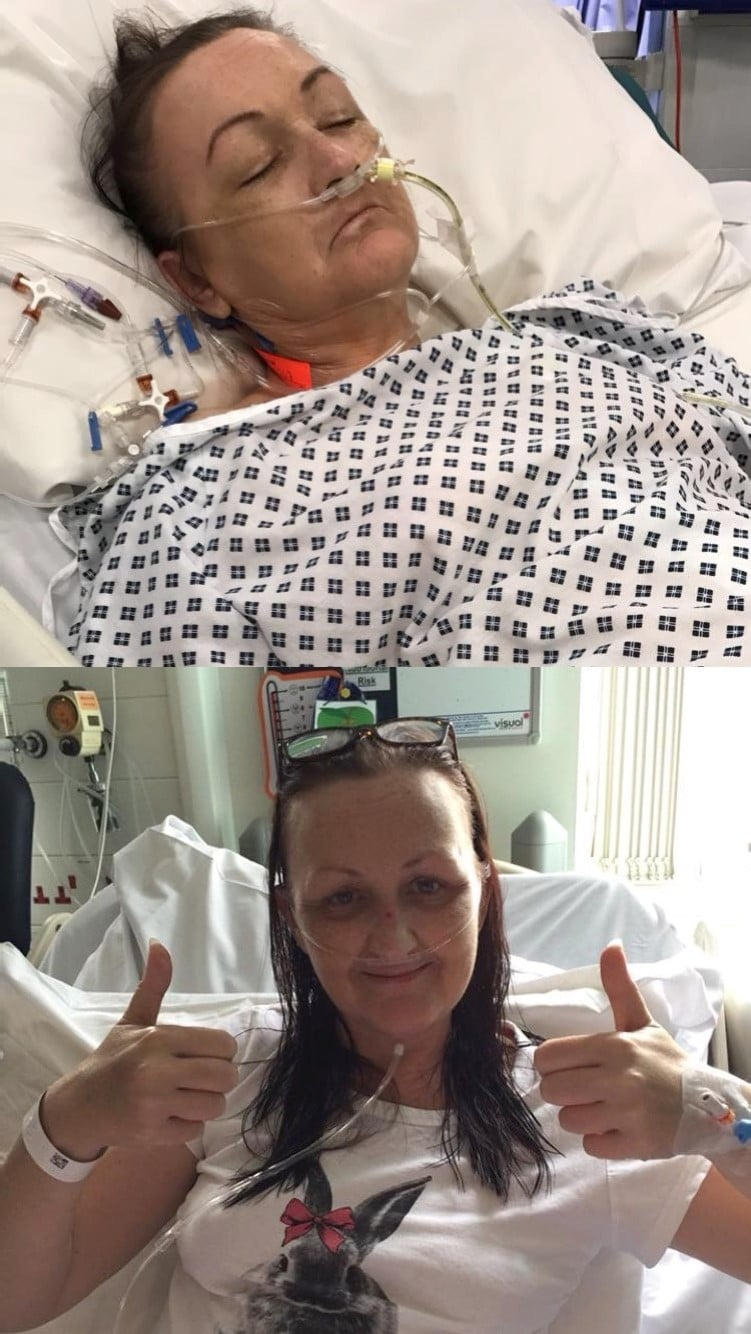 Sarah Jane in ICU and on the ward