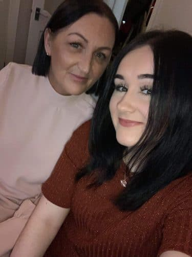 Sarah Jane with her daughter Aimee