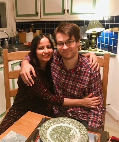 Atasi and Alex at their London home