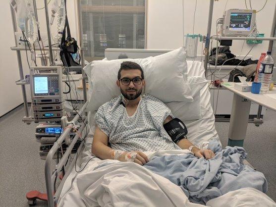 Mark Zoel in hospital