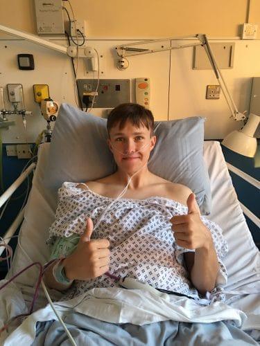 Lewis Daniels in hospital