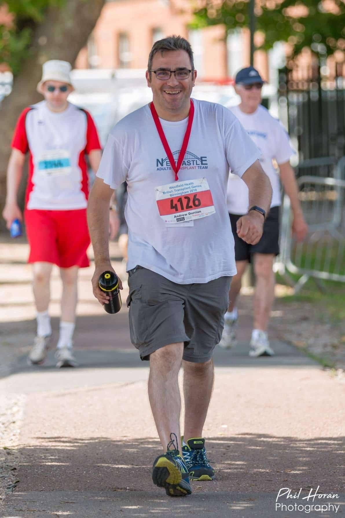 Andrew Dorrian at the British Transplant Games