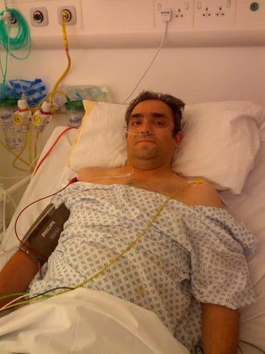 Andrew Dorrian in hospital