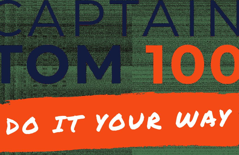 Captain Tom 100 Logo Tagline Colour