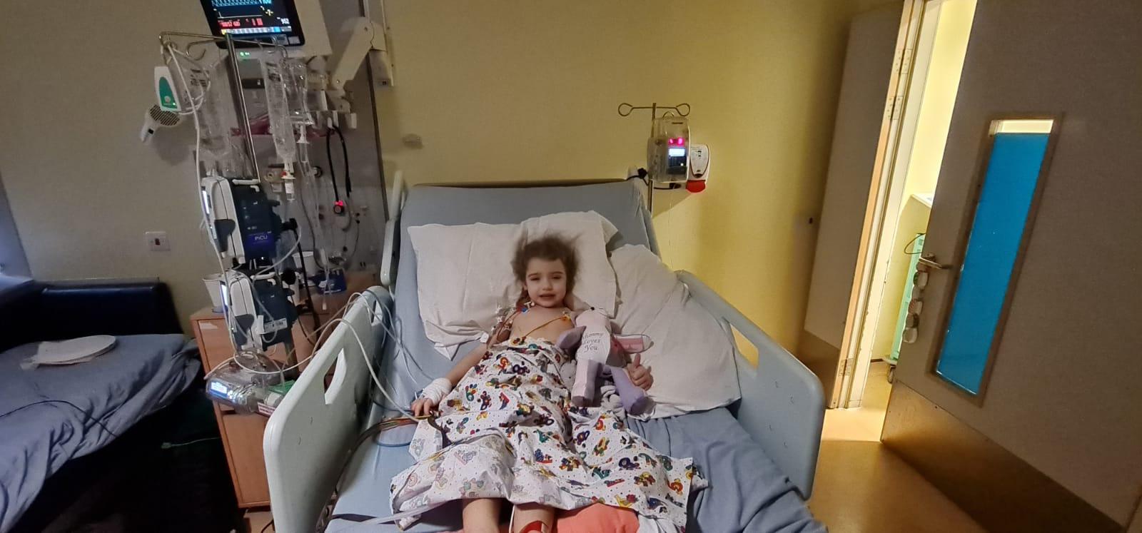 Daisy-May in hospital