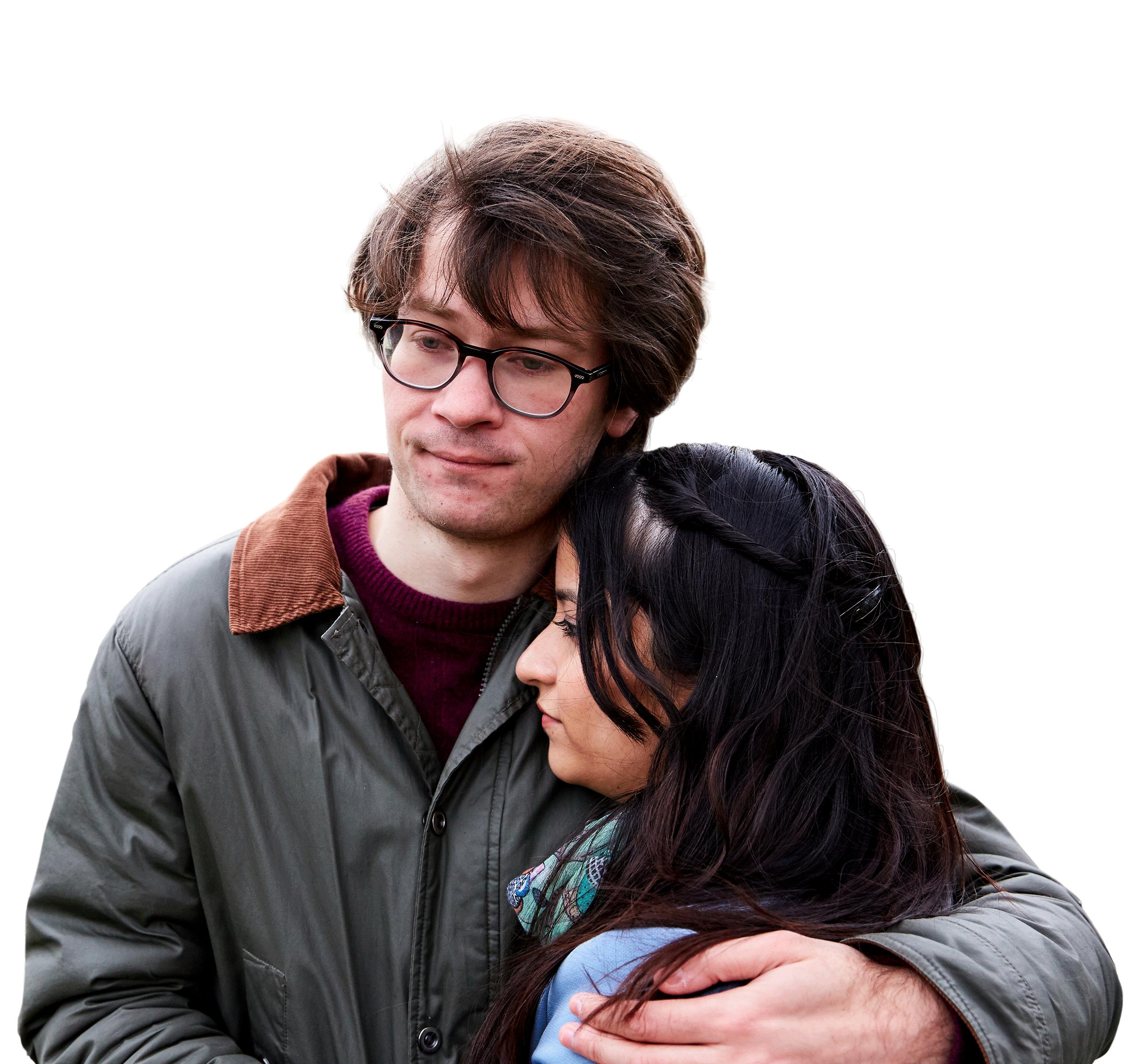 Alex Taylor hugging partner
