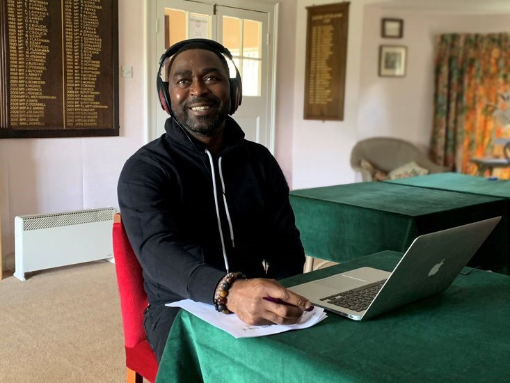 Andy Cole at desk