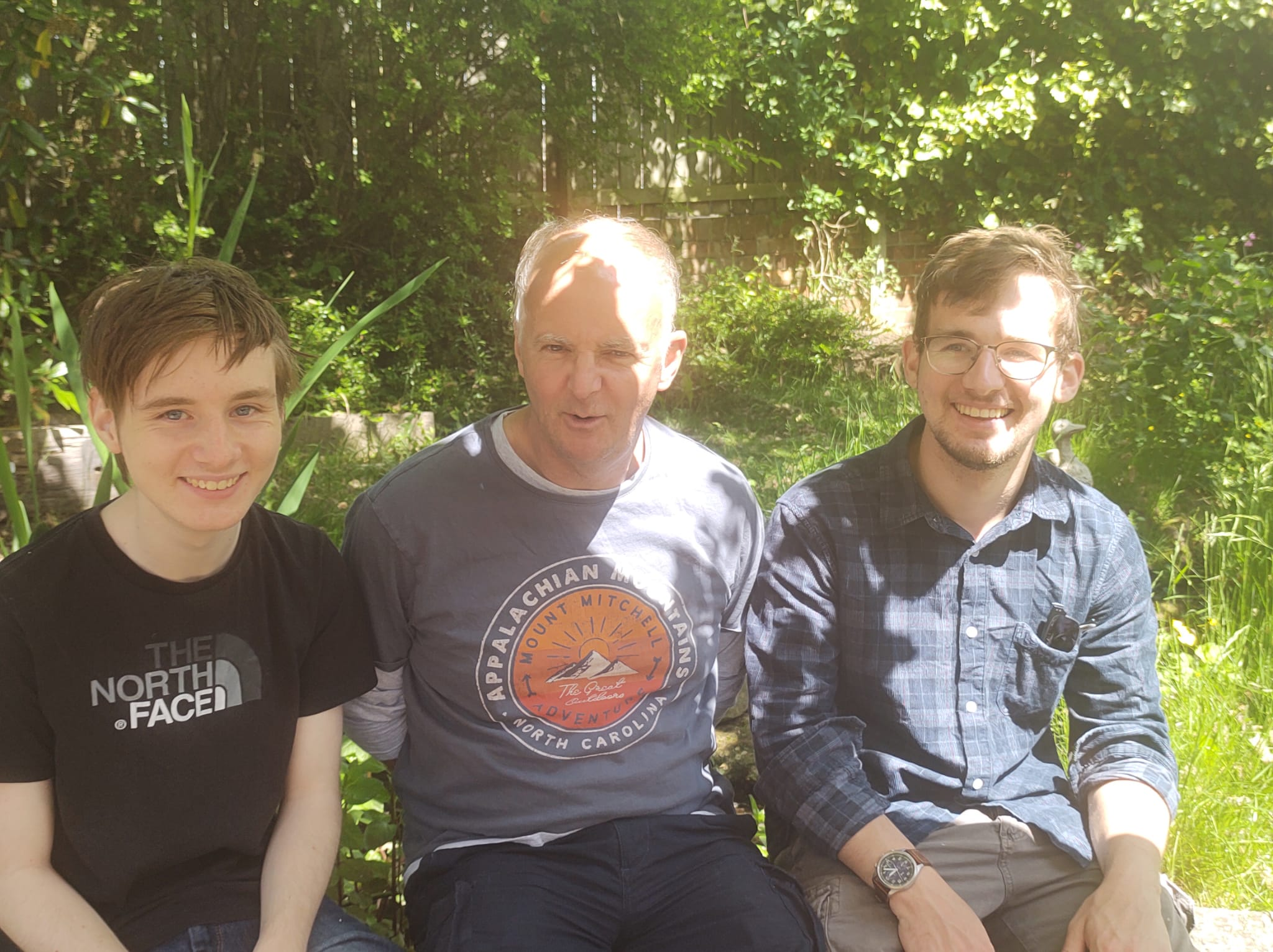 Mark Blakemore with dad and brother