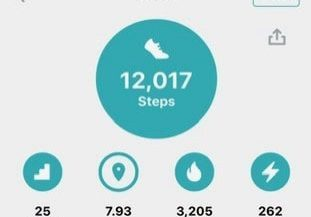Liz Lighstone is doing 12000 steps a day for 12 days