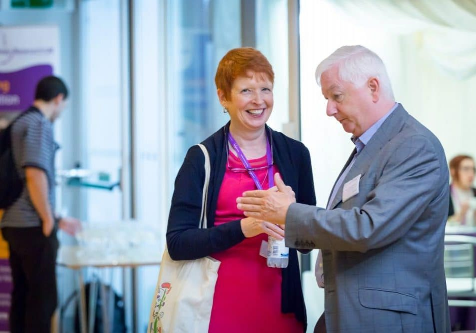 Tess Harris and Donal O'Donoghue networking