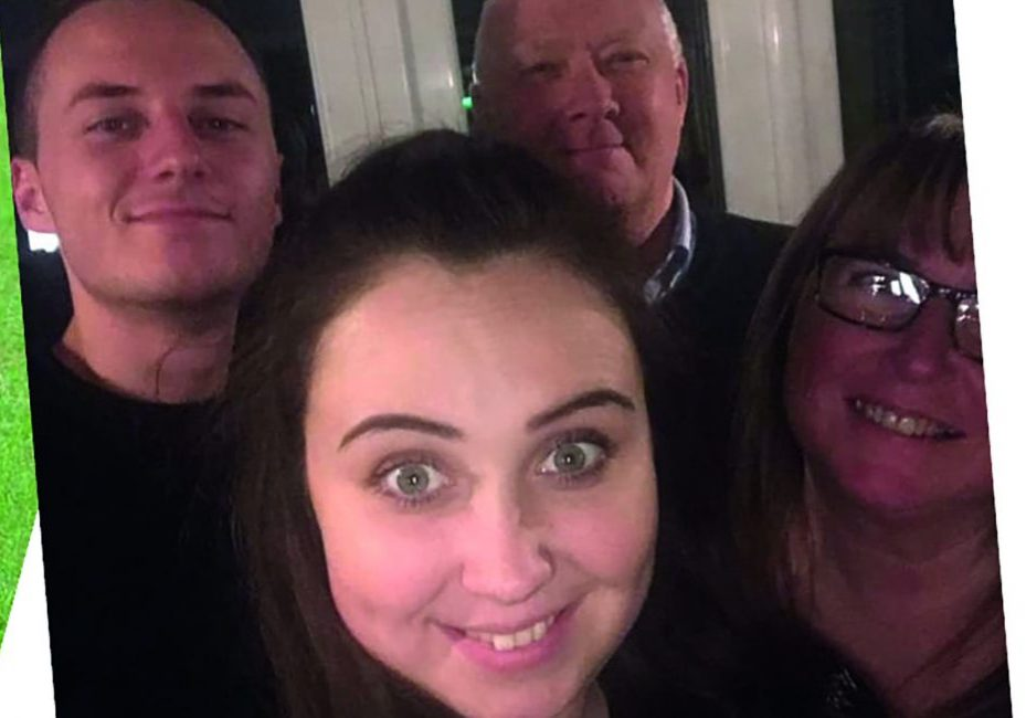 Paul Matthews with wife, daughter and son