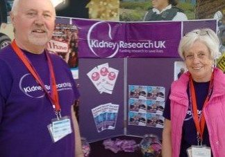 Fundraisers and volunteers, Geoff and Lily Gidley